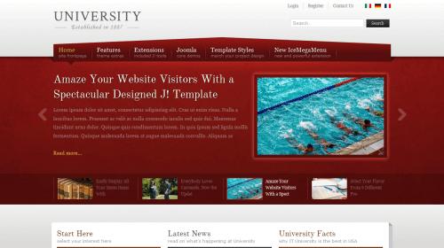 IT University. Шаблон сайта учебного заведения для Joomla 2.5