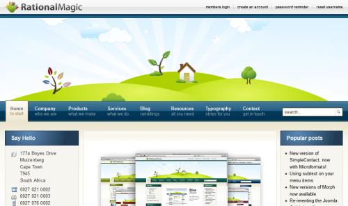 JJ Rational Magic. Шаблон блога для Joomla 2.5