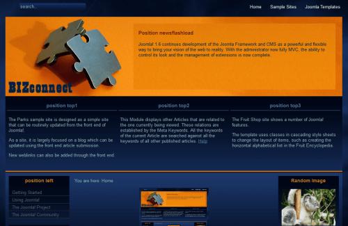 Bizconnect. Шаблон портала для Joomla 2.5