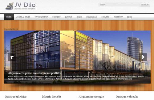 JV Dilo. Бизнес-шаблон для Joomla 2.5