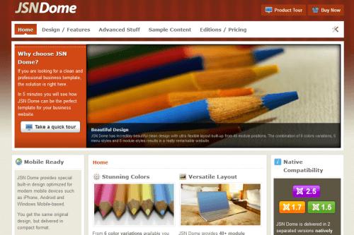 JSN Dome. Элегантный шаблон для Joomla 2.5