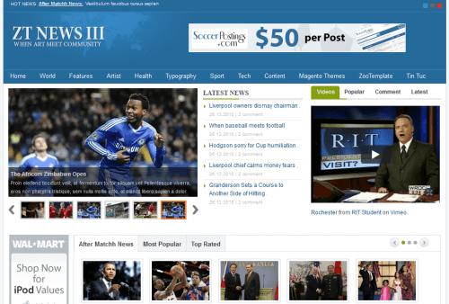 ZT News III. Шаблон новостного портала для Joomla 2.5
