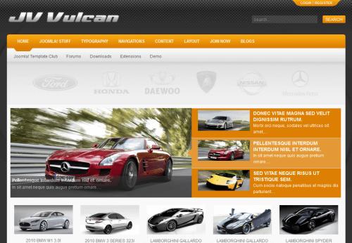 JV Vulcan. Яркий шаблон автомобильного портала для Joomla 2.5