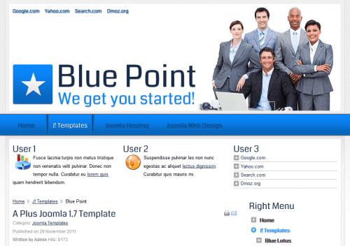 Blue Point. Профессиональный шаблон сайта для Joomla 2.5