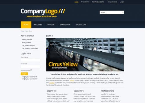 Cirrus Yello. Шаблон корпоративного сайта для Joomla 2.5