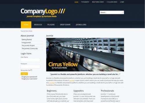 Cirrus Yello. Шаблон корпоративного сайта для Joomla 2.5