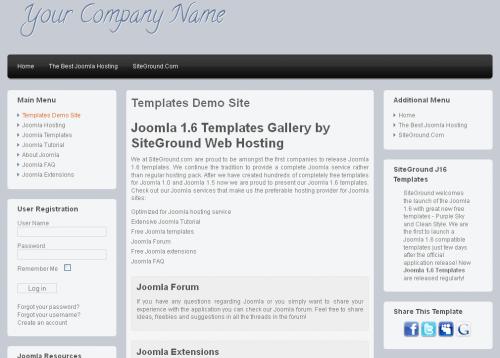 Clean Style. Легкий шаблон блога для Joomla 2.5