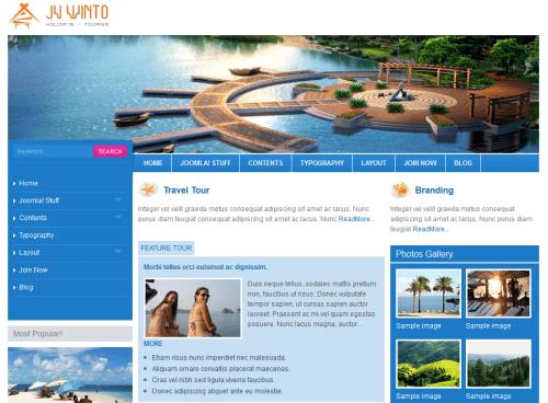 JV Winto. Шаблон сайта путешествия для Joomla 2.5