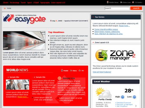 BT Easygate. Простой шаблон для Joomla 2.5.