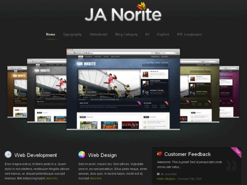 JA Norite. Шаблон сайта-портфолио для Joomla 2.5.