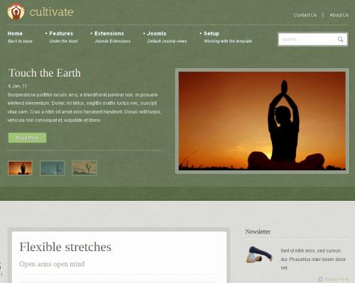 JB Cultivate. Шаблон сайта о спорте и здоровье для Joomla 2.5