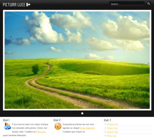 Pictura Luce. Шаблон бизнес-сайта для Joomla 2.5