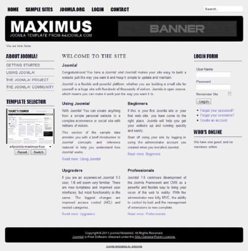 Maximus. Еще один минималист для Joomla 2.5