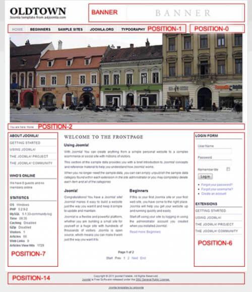 Oldtown. Шаблон городского портала для Joomla 2.5