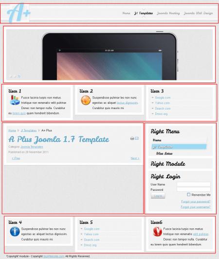 A+ Plus Blog. Шаблон блога для Joomla 2.5