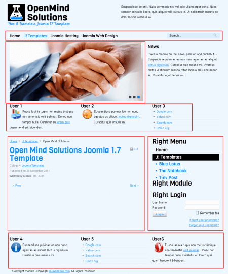 Open Mind Solutions. Шаблон бизнес-сайта для Joomla 2.5