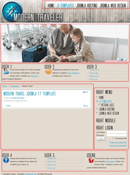 Modern Travel. Шаблон сайта о путешествиях для Joomla 2.5