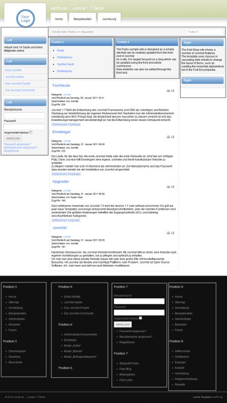 Massarbeit. Шаблон сайта о работе для Joomla 2.5