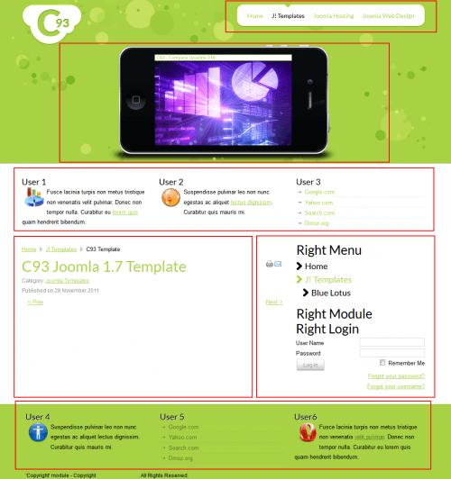 C93 Technology. Шаблон сайта о высоких технологиях для Joomla 2.5