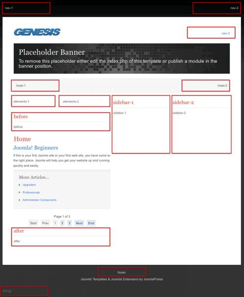 JP Genesis. Универсальный шаблон для Joomla 2.5