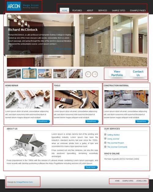OT Arcon. Шаблон бизнес-сайта для Joomla 2.5