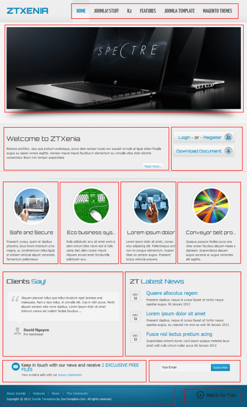 ZT Xenia. Бизнес-шаблон для Joomla 2.5