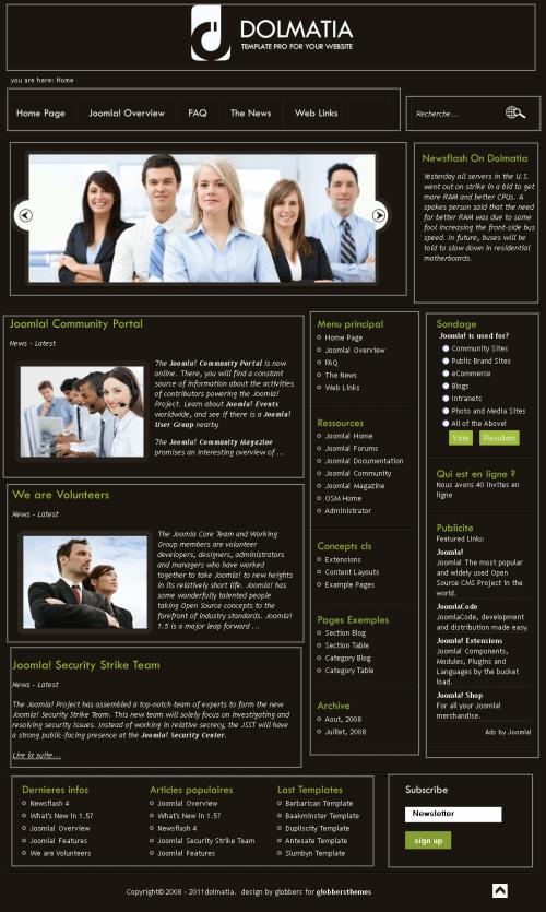 Dolmatia. Бизнес-шаблон для Joomla 2.5