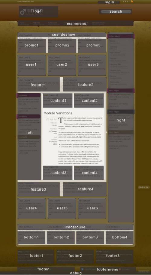 IT Union. Шаблон портала для Joomla 2.5.