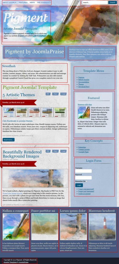 JP Pigment. Шаблон блога или портфолио для Joomla 2.5