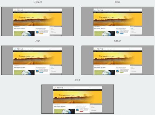 JA Topaz. Шаблон бизнес-сайта для Joomla 2.5.