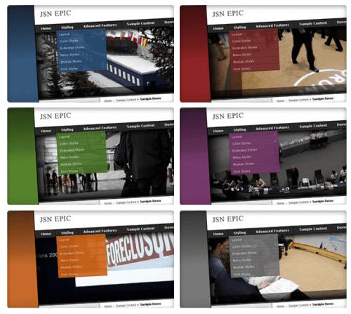JSN Epic. Бизнес-шаблон для Joomla 2.5