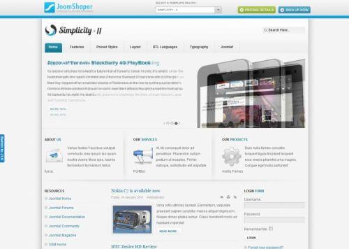 Shaper Simplicity II. Многофункциональный шаблон для Joomla 2.5
