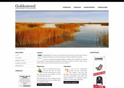 Goldenreed. Простой шаблон Joomla 2.5