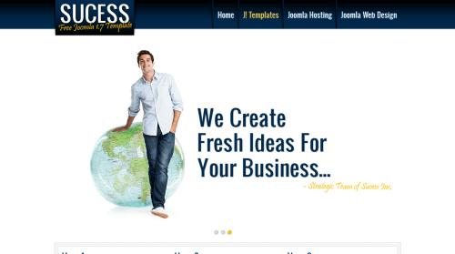 Success. Шаблон корпоративного сайта для Joomla 2.5
