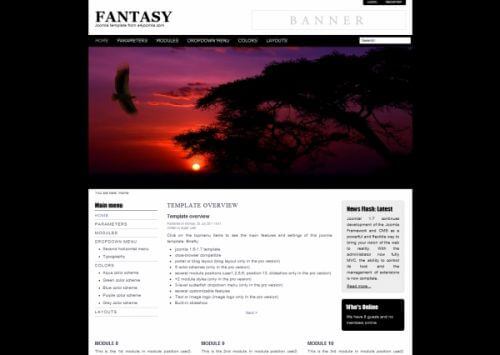Fantasy. Легкий шаблон для Joomla 2.5