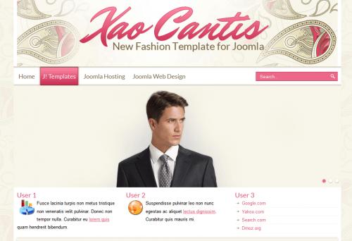 Xao Cantis. Профессиональный шаблон сайта о моде и одежде для Joomla 2.5