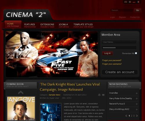 IT Cinema 2. Шаблон сайта о кино для Joomla 2.5.