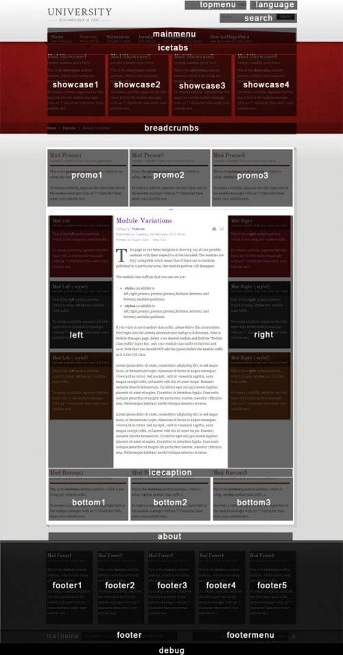 Шаблон сайта учебного