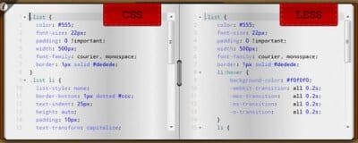 Конвертор CSS в LESS