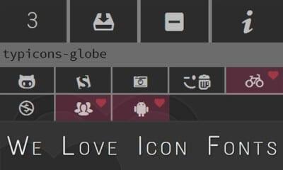 Онлайн коллекция шрифтов с иконками