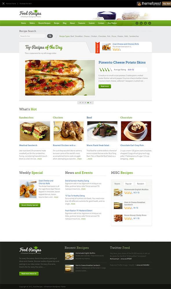 Кулинарный шаблон - Food Recipes