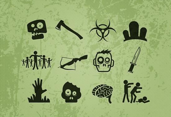 Набор иконок - Zombie