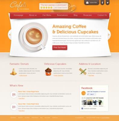 Шаблон сайта - Cafe