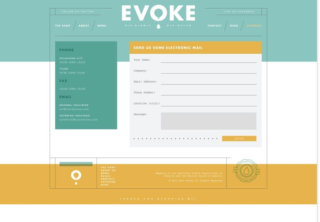 Contact • Cafe Evoke
