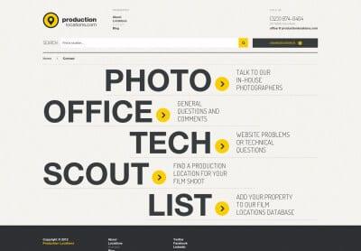 20 примеров оформления контактной страницы сайта