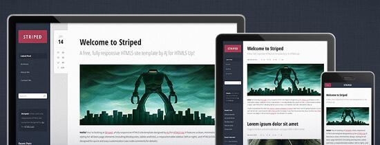 Адаптивный шаблон сайта - Striped