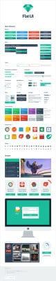 Набор элементов интерфейса - Flat