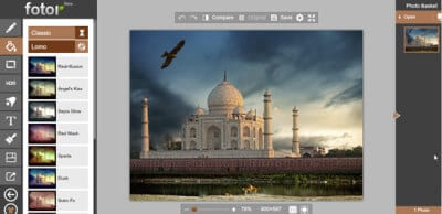 Онлайн редактор изображений Fotor