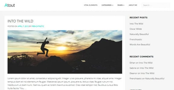 Шаблон Wordpress - Atout