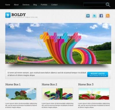 Шаблон WordPress - Boldy